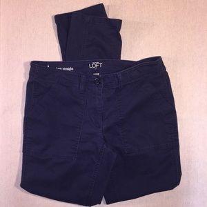 Loft Modern Straight Pant Stretch 4 Chino Blue